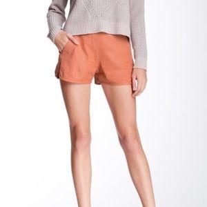 Trina Turk Kristoph lamb Leather Shorts size 8